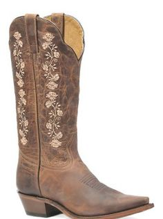 Boulet® Ladies' Rugged Country Brown Floral Boots someone get me these pls Country Girl Belts, Country Boots, Western Boots, Brown Cowgirl Boots, Western Style, Country Girls, Crazy Shoes, Me Too Shoes, Lv Shoes