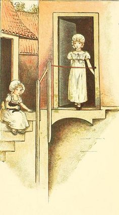 Kate Greenaway 1910 from The Marigold Garden - From Wonder World