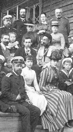 Grand Duchess Xenia and family. Xenia was the sister of Tsar Nicolas II - she was at her estate in the Crimea when she learned of her brother's murder - she and her mother Dowager Empress Maria escaped on 11 Apr 1919 with the help of her aunt Queen Alexandra of Great Britain. King George V sent the British warship HMS Marlborough which brought them and other Romanovs to England. Xenia was given Frogmore Cottage at Great Windsor Park as a grace and favour residence. Her 7 children all…