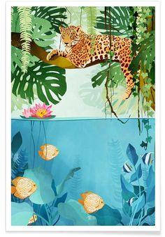 Welcome to the Jungle als Premium Poster von Goed Blauw | JUNIQE