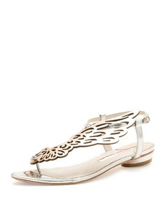 30e0e626d Sophia Webster - Seraphina Butterfly-Wing Flat Sandal White Flats