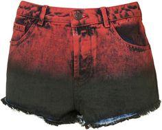 ShopStyle: MOTO Dip Dye High Waisted Hotpants