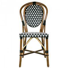 Black & White Mediterranean Bistro Chair (B)