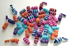 DIY cat toys - made from knitting over wine corks!