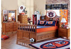 Perfect bedroom for a little Auburn Tiger