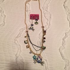 Betsey Johnson crab/beach necklace and earrings Betsey Johnson necklace and earrings. Brand new! Betsey Johnson Jewelry Necklaces