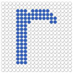 kralenplank letter r