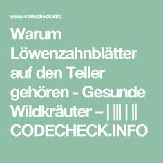 Warum Löwenzahnblätter auf den Teller gehören - Gesunde Wildkräuter –            CODECHECK.INFO
