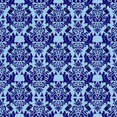 TARDIS Damask  fabric by mayabella on Spoonflower - custom fabric