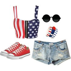 cute fourth of July outfit if u put a tank top under it or have a crop shirt over it
