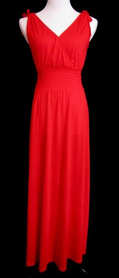 Obsessed To Dress - V-Neck Maxi- Red, $19.99 ObsessedToDress.com