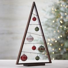 Large A Frame Ornament Tree in Outlet Christmas | Crate and Barrel