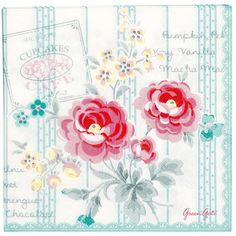Greengate serviettes en Papier Motif Lulu Mint - .