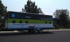 Mobile classroom outside of NH Salt Lake City.