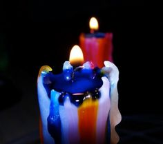 Colour Drip Candle Set