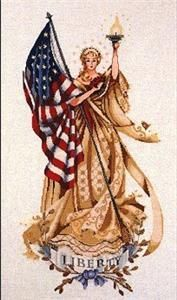 The Lady Of The Flag Cross Stitch Kit (MD62-M) Embroidery Patterns by Mirabilia Designs