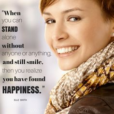 Inspirational happiness quote by Elle Smith about Happiness.  #Quote #Quotation #Happiness