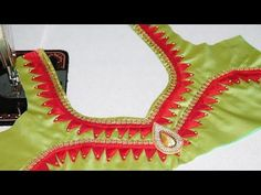 Latest patch work blouse designs cutting and stitching 2018 Patch Work Blouse Designs, Simple Blouse Designs, Stylish Blouse Design, Blouse Back Neck Designs, Cotton Saree Blouse Designs, Sari Blouse, Designer Blouse Patterns, Blouse Models, Couture