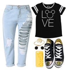 """Untitled #36"" by jarzembovska555 on Polyvore featuring beauty, Converse, Disney, Bing Bang, Topshop and Humble Chic"