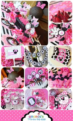 Minnie Mouse Party Pink  On SALe Minnie por AmandasPartiesToGo