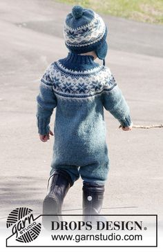 Wild blueberries / DROPS children - free knitting patterns by DROPS design, Knitting For Kids, Baby Knitting Patterns, Baby Patterns, Free Knitting, Knitting Projects, Drops Design, Baby Barn, Wild Blueberries, Jumpsuit Pattern