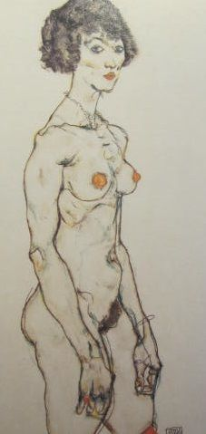 Egon Schiele nude art