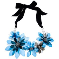 LANVIN flower necklace ($590) ❤ liked on Polyvore
