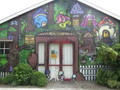 The front of our building which used to be a Blacksmiths shop and is now a fairy shop and our house.