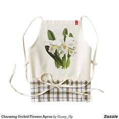 Charming Orchid Flowers Apron