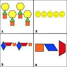 Which One Doesn't Belong with pattern block patterns (WODB) Math 2, 1st Grade Math, Preschool Math, Grade 2, Math Games, Math Activities, Block Patterns, Pattern Blocks, Math Essay