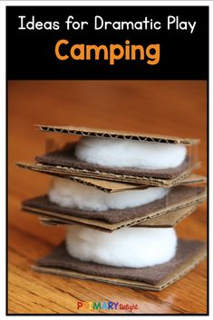 Starting a camping theme in your pretend play center? These printable pages and directions with pictures will help you turn your preschool or kindergarten home living center into a fun camping dramatic play center! Lots of ideas for teachers to make the c Camping Dramatic Play, Dramatic Play Area, Dramatic Play Centers, Dramatic Play For Preschool, Dramatic Play Themes, Preschool Themes, Preschool Activities, Preschool Kindergarten, Preschool Classroom Centers