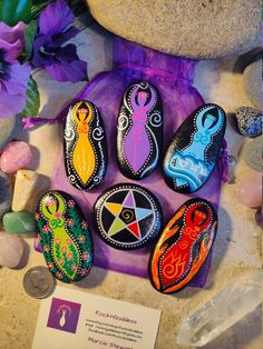 Pagan Witch, Meditation Stones, Pentacle, Stone Painting, Love And Light, Bag Storage, Altar, Spirit, Earth