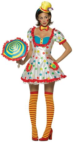 Clown (Female) Adult Costume from Buycostumes.com Halloween costume ideas