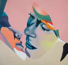 "Saatchi Art Artist Beata Chrzanowska; Surreal Face Painting, ""Foil"" #art"