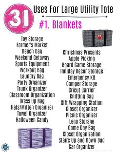 Thirty One Uses for LUT!You can find 31 bags and more on our website.Thirty One Uses for LUT! Thirty One Utility Tote, Organizing Utility Tote, Large Utility Tote, Thirty One Games, Thirty One Fall, Thirty One Party, Thirty One Facebook, Thirty One Organization, Organizing Ideas