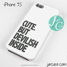 cute but devilish inside Phone case for iPhone 4/4s/5/5c/5s/6/6 plus