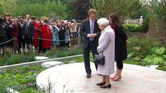 Prince Harry has shown the Queen around his charity's garden at the Chelsea Flower Show