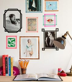 Washi tape frames won't mess up your wall!