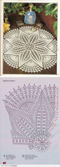 Pin von Judyta Góra auf crochet | Pinterest | Beautiful, Häkelspitze ...