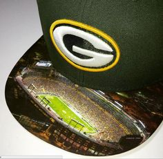 Green Bay Packers Authentic New Era Snapback or Fitted Cap with Custom  Lambeau Field 3f39aae10