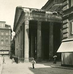 Italy Roma Pantheon Peristyle Old NPG Stereo Photo 1900