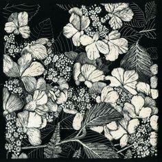 Risultati immagini per scratchboard art flowers