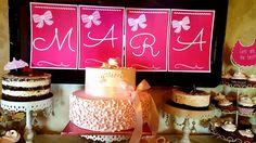 ghirlanda personalizata botez Baptisms, Birthday Cake, Girly, Candy, Bar, Desserts, Pink, Food, Women's