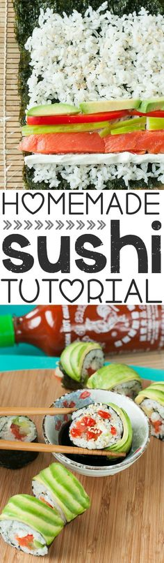 Homemade Sushi: Tips, Tricks, and Toppings! - Peas and Crayons - Homemade Sushi: Tips, Tricks, and Recipes for delicious at-home sushi rolls CON ESTO MUEROOOOO! Sushi Comida, Sushi Sushi, Sushi Mat, Sushi Food, Seafood Recipes, Cooking Recipes, Sauce Recipes, Sushi Night, Asian Recipes