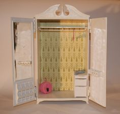 1960s Susy Goose Barbie Doll's Clothes Wardrobe Armoire Closet | Vintage Duds and Decor