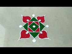 6 Easy, quick and unique flower rangoli patterns Easy Rangoli Designs Diwali, Rangoli Designs Latest, Simple Rangoli Designs Images, Rangoli Designs Flower, Free Hand Rangoli Design, Small Rangoli Design, Rangoli Border Designs, Rangoli Ideas, Rangoli Designs With Dots