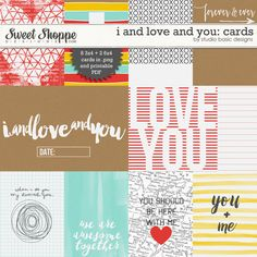 I And Love And You: Cards by Studio Basic