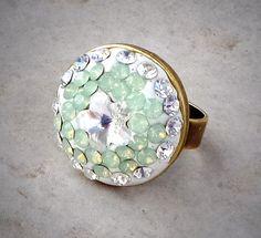 Swarovski crystal round clear crystal and by CrystallizedByLena