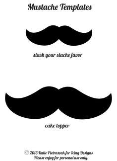 Plantilla o molde de moustache o bigote de fieltro