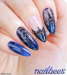 66 Elegant Lace Nail Art Designs 2018